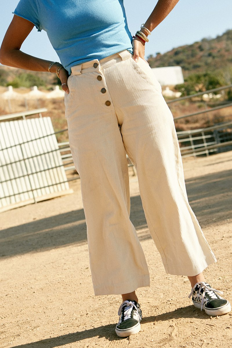 Plant Dyed Corduroy Pant Natural