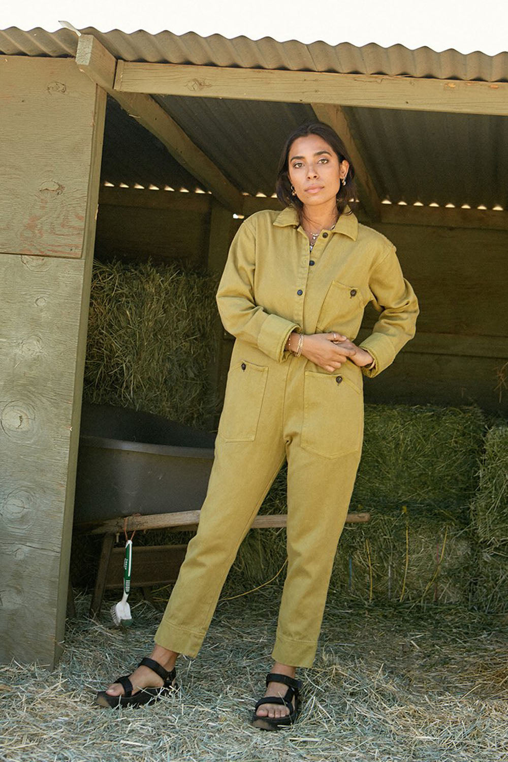Utility Jumpsuit Avocado