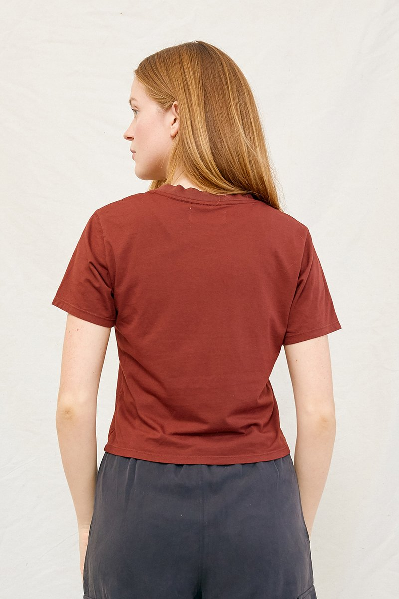 Hemp Crop Tee Redwood