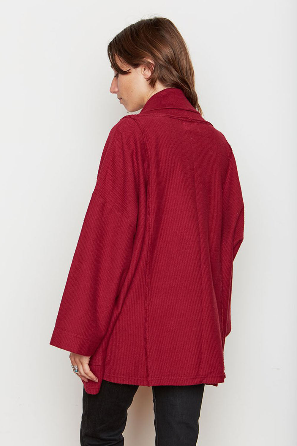 Abbot Corduroy Knit Robe Berry