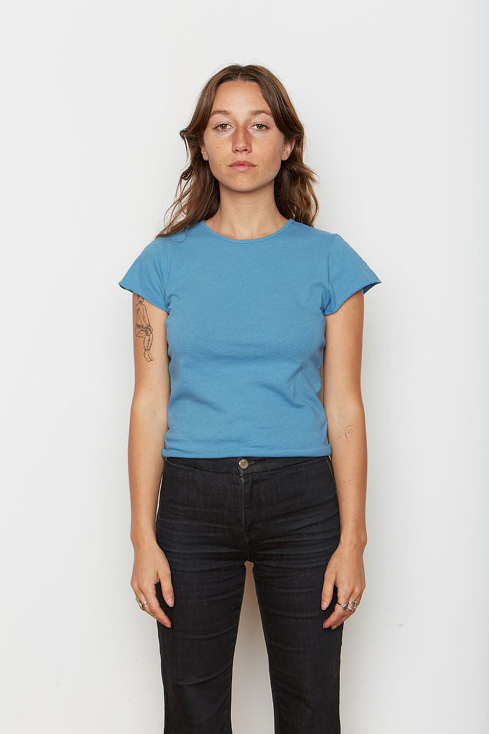 Recycled Cotton Baby Tee Cerulean