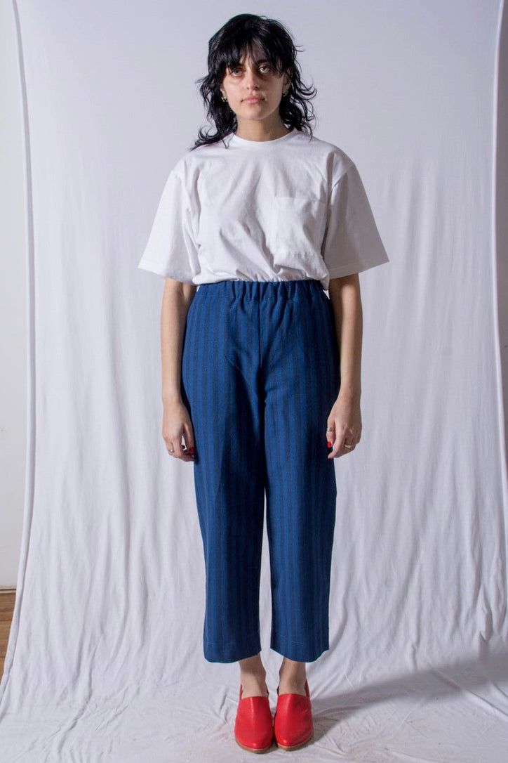 Slack Pants Blue Stripe
