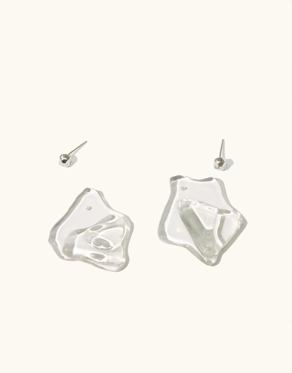 Plateau Earrings Clear Air