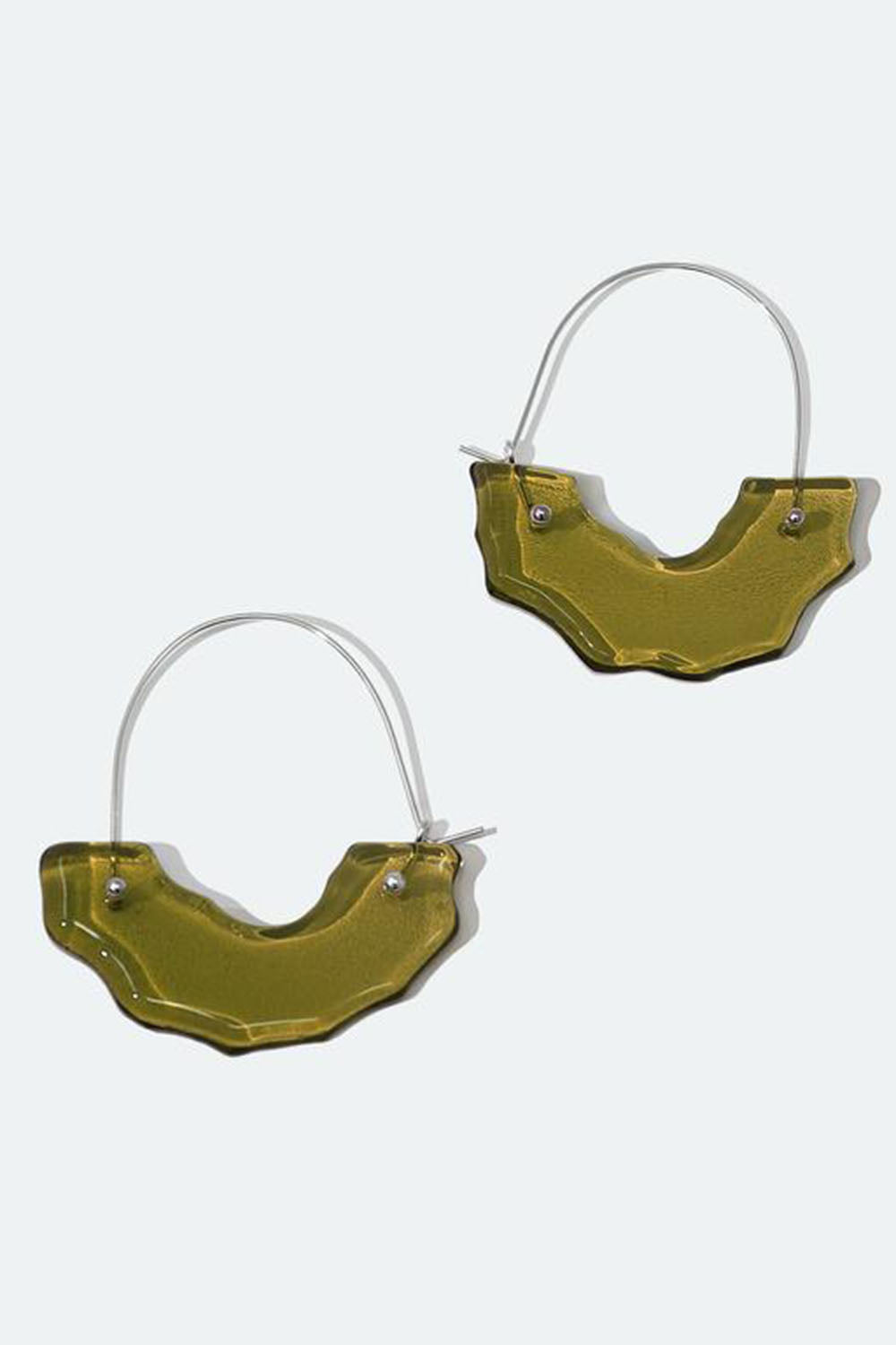 Polar Arch Hoop Earrings Olive
