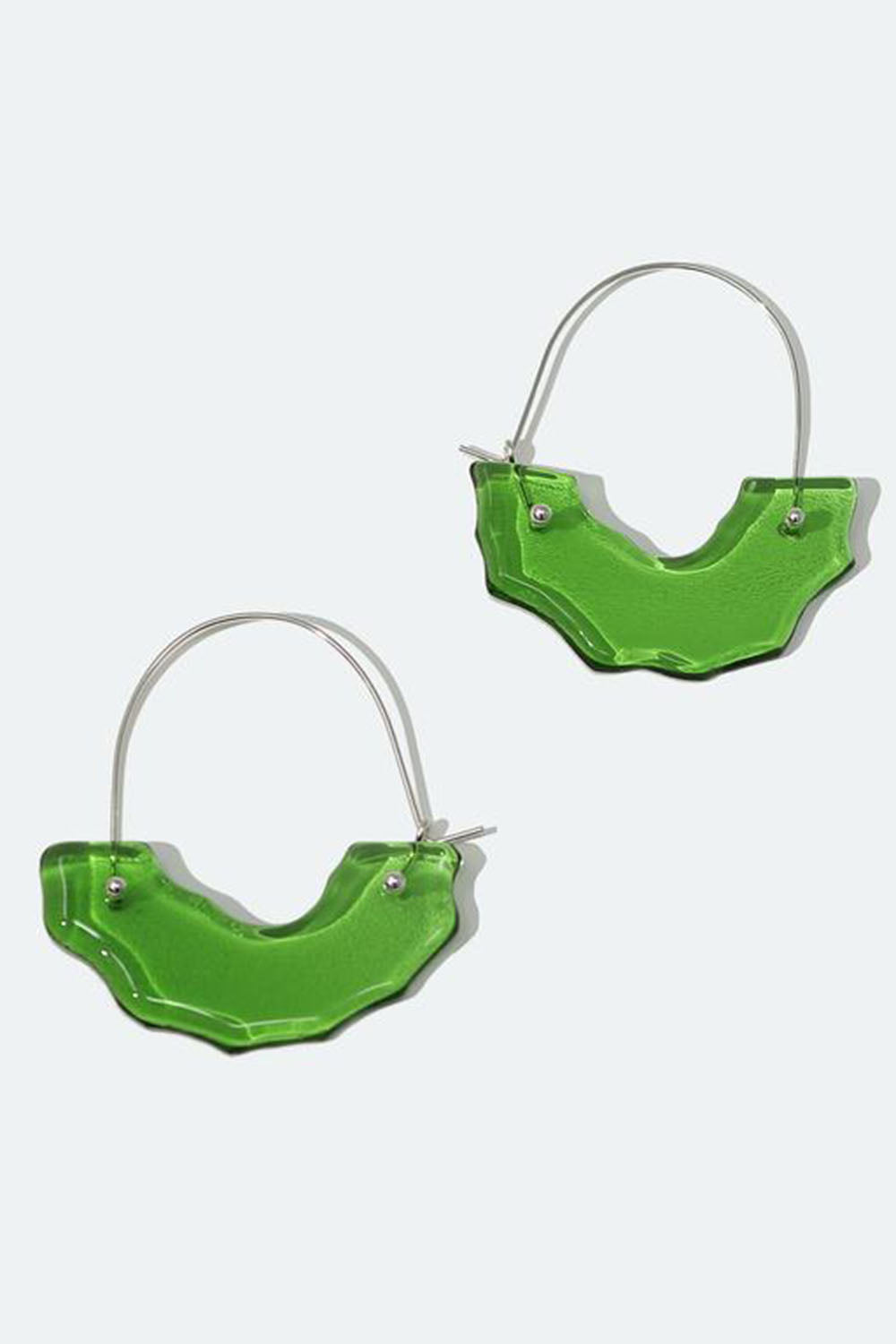 Polar Arch Hoop Earrings Green