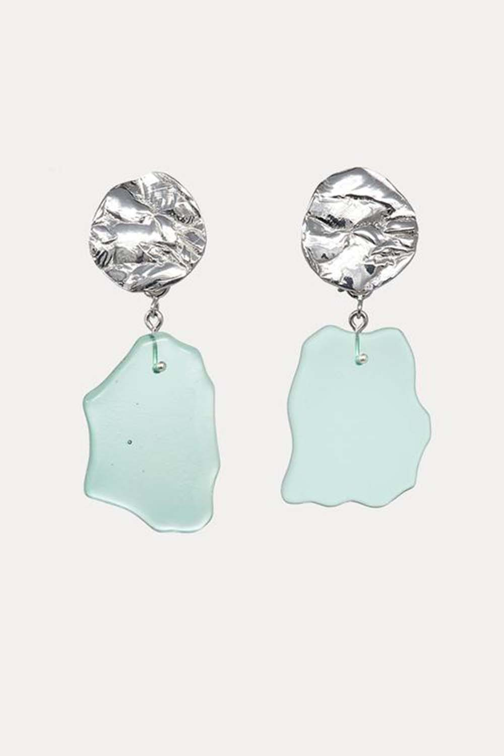 Coastline Earrings Small Mint Ice