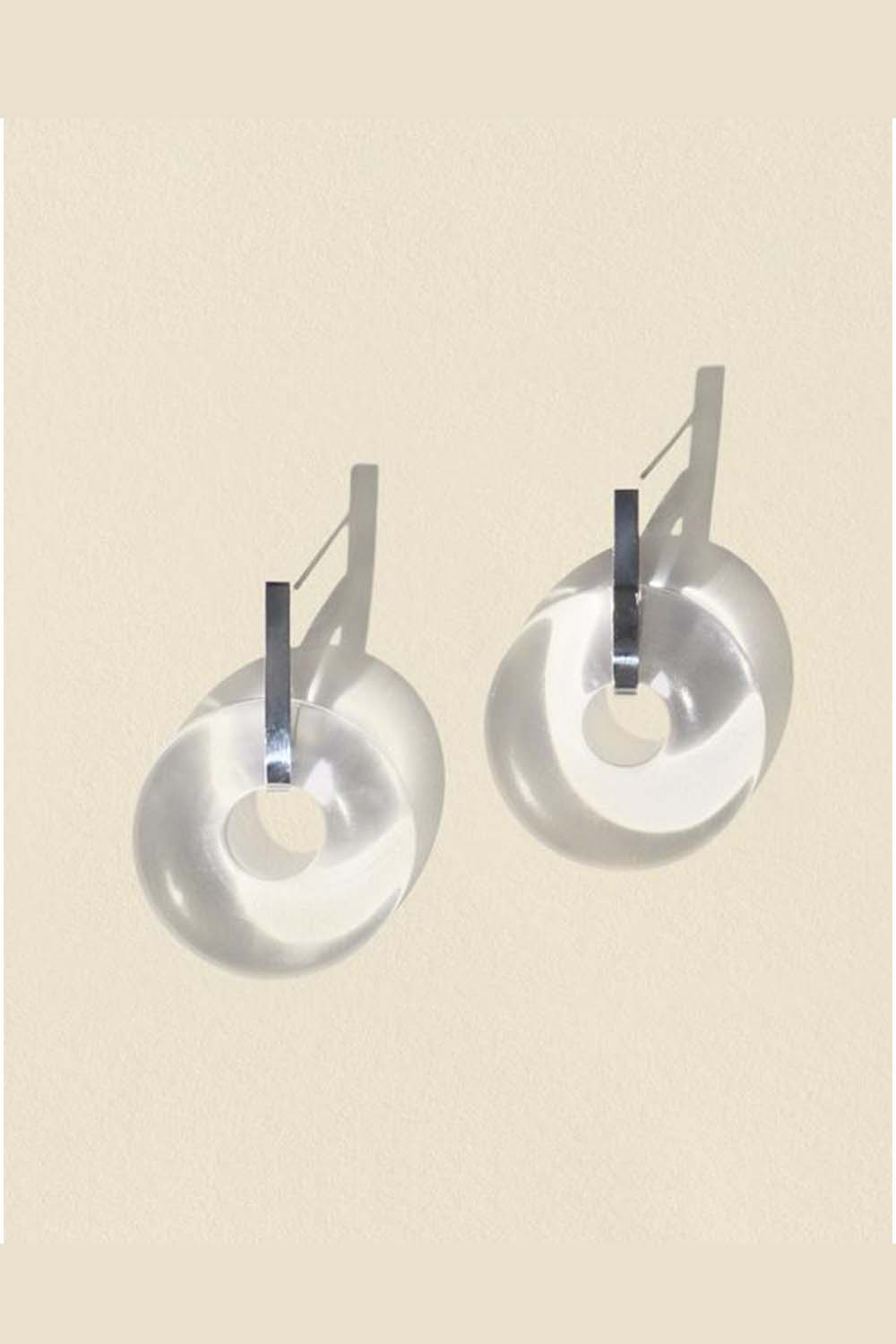 Minimal Torus Earrings Clear Air