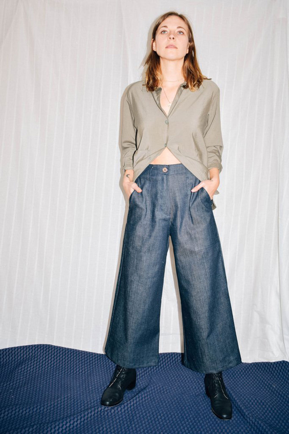 Utility Denim Pants