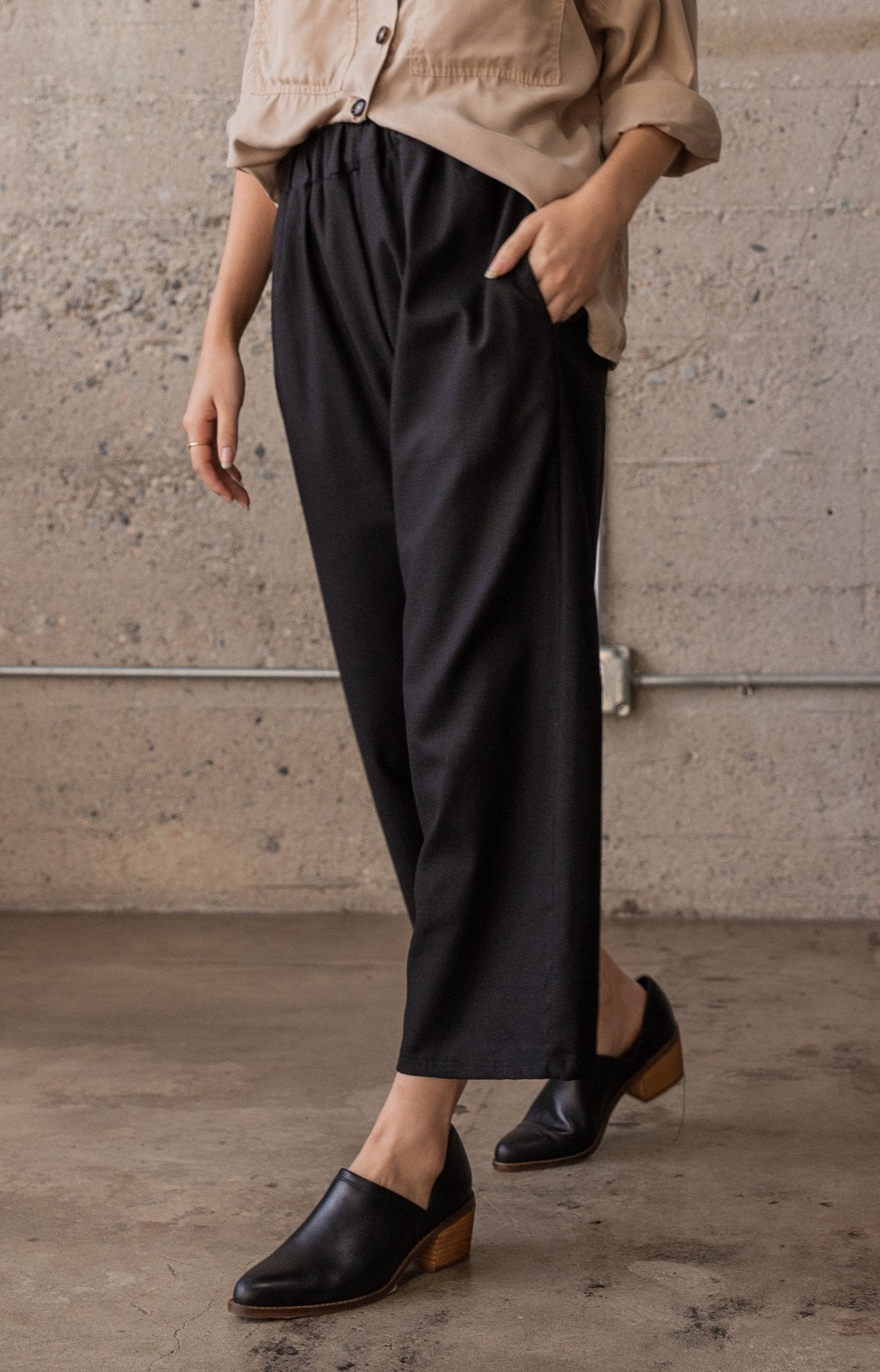 Rhoda Easy Pant Black