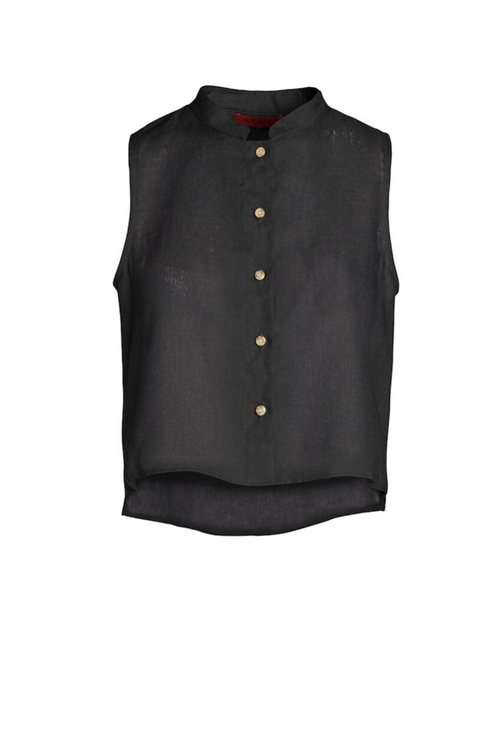 Studio Sleeveless Top Black