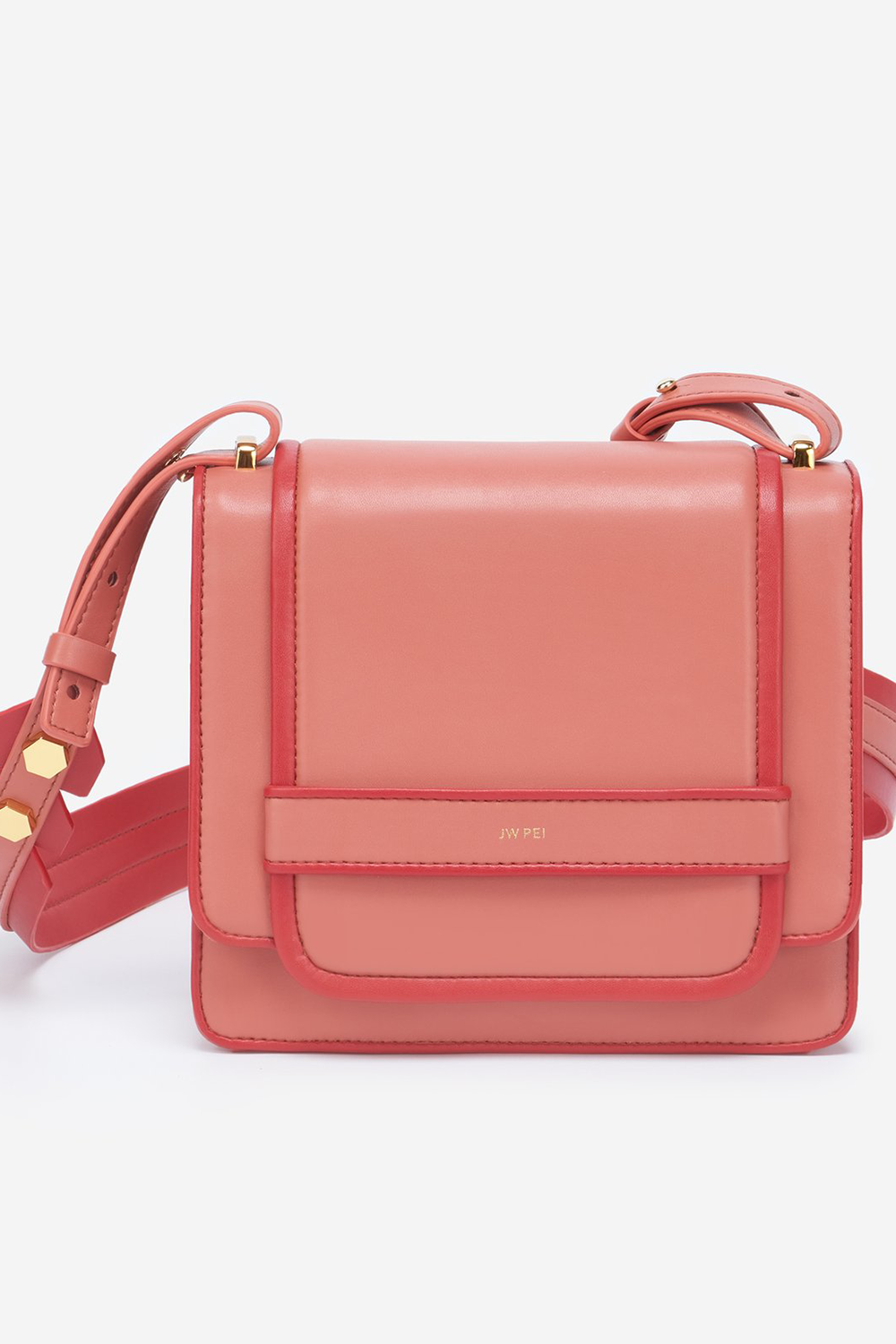 Fiona Bag in Pink Outlines