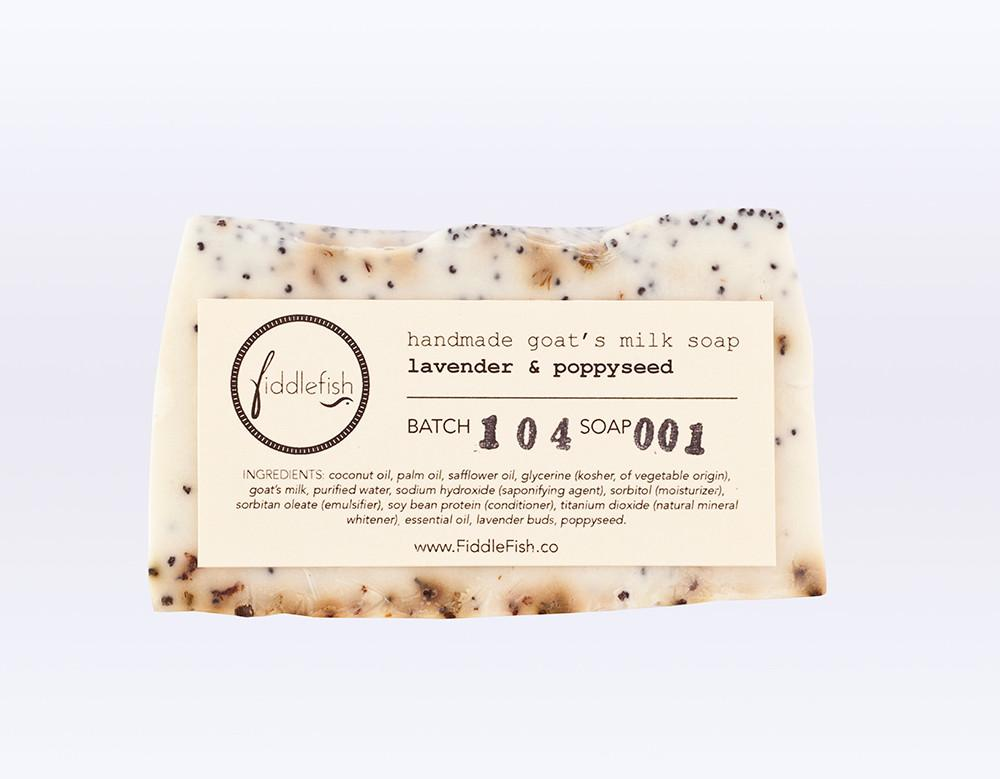 Fiddle Fish Lavender Poppy Seed Soap