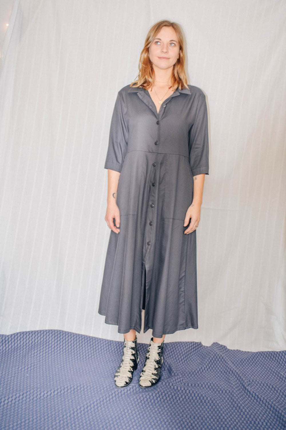 Morgan Shirt Dress Grey