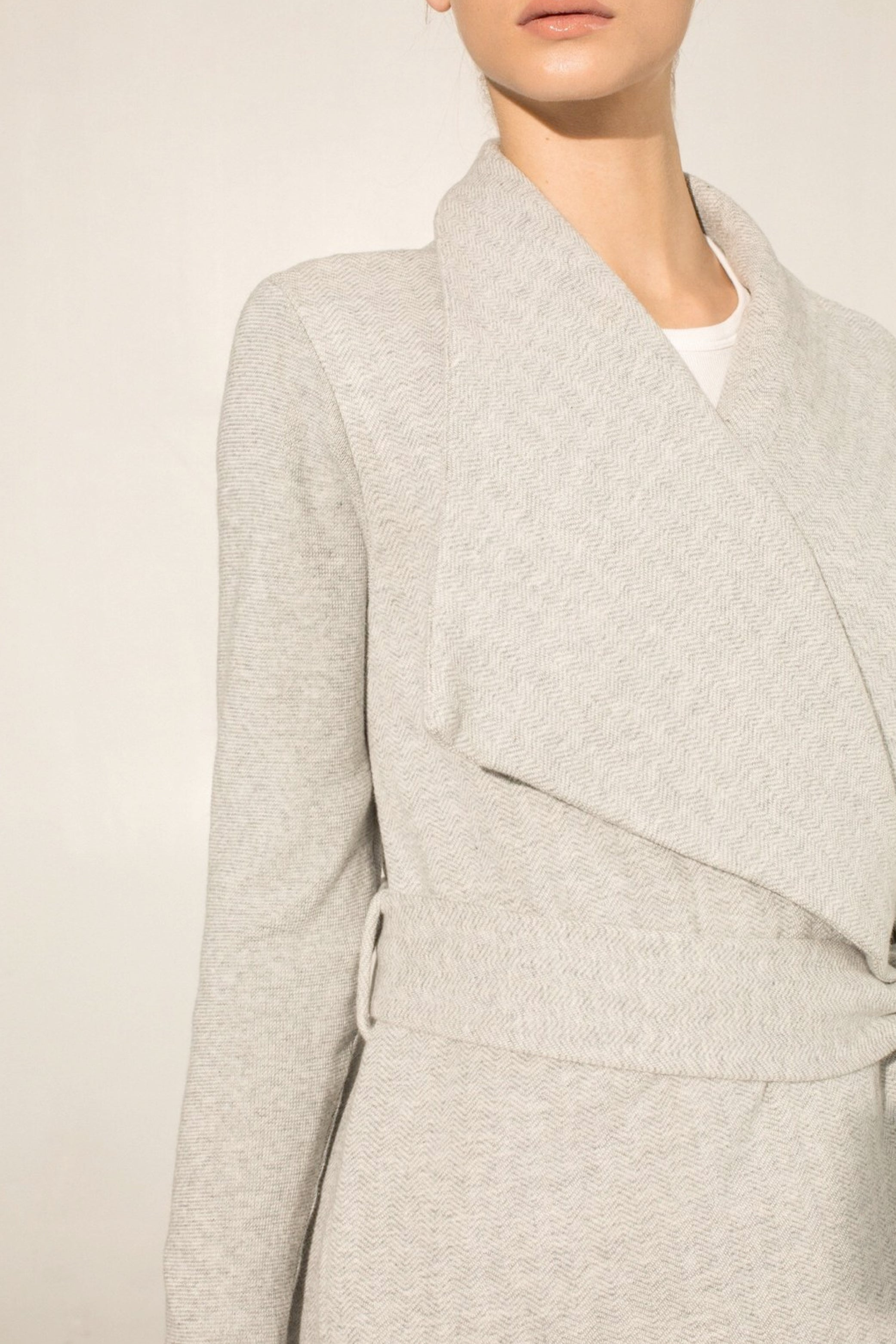Wrap Coat Gray
