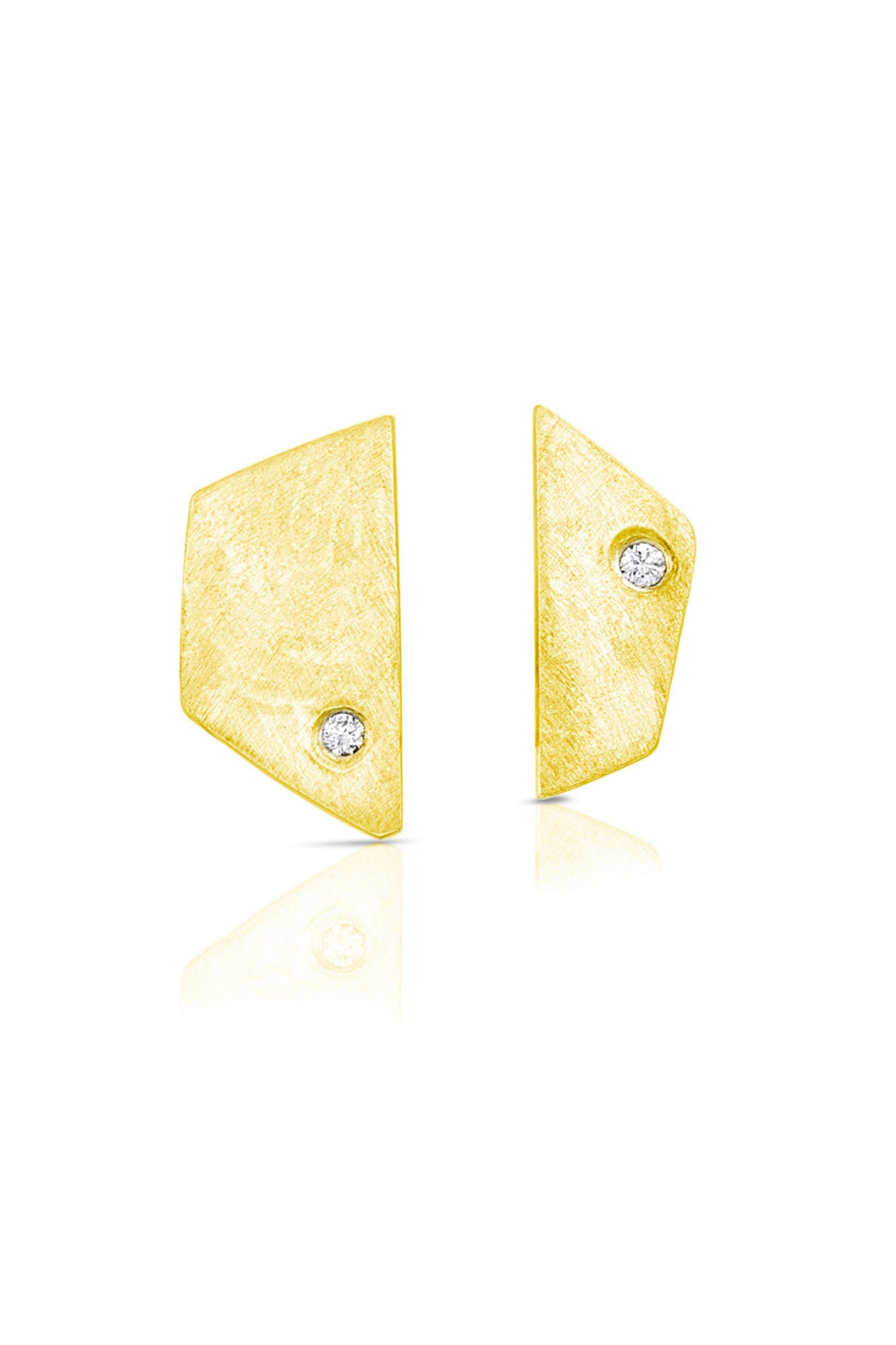 Yellow Gold Paloma Earrings