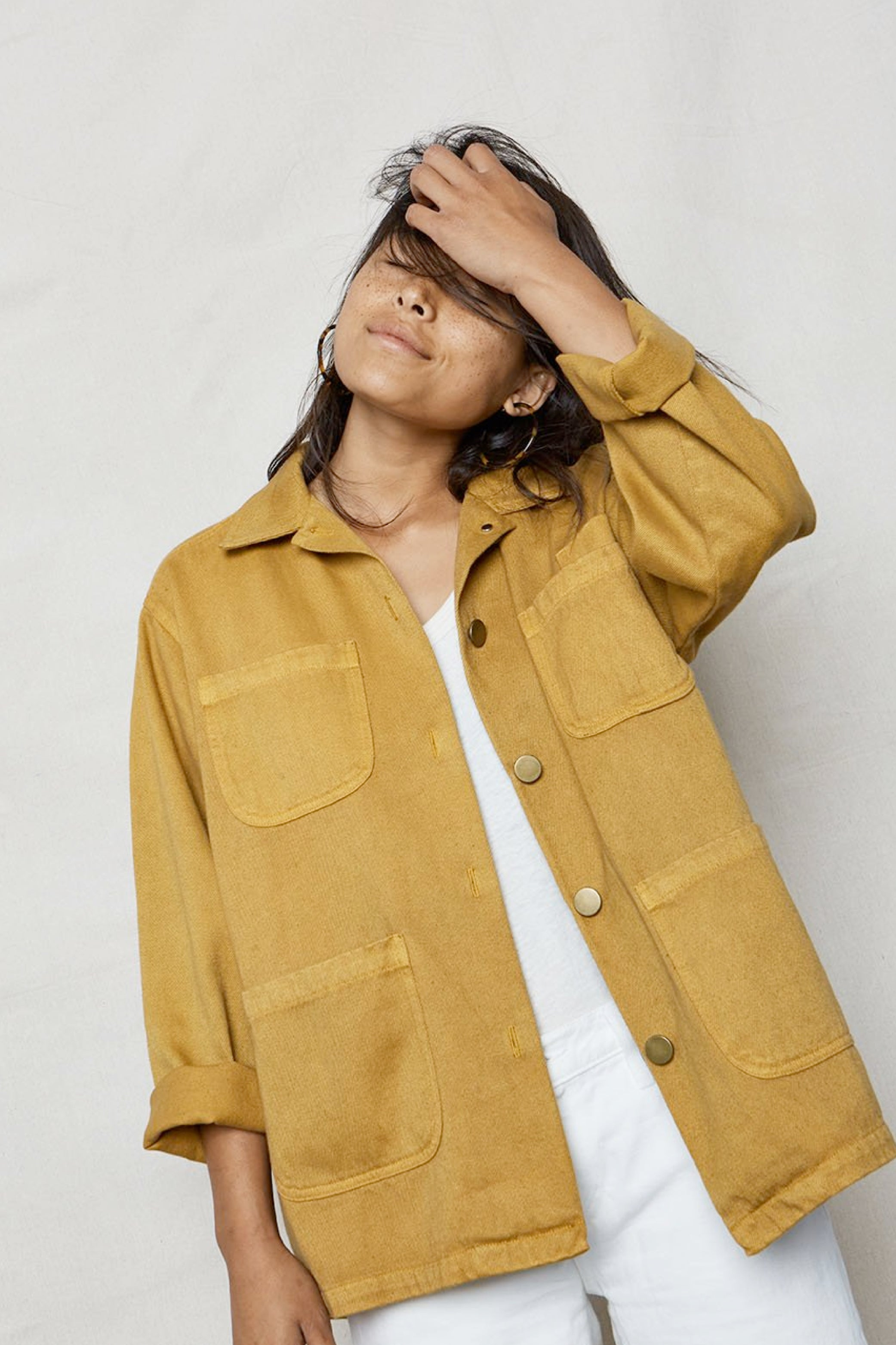 Hemp Utility Jacket Golden