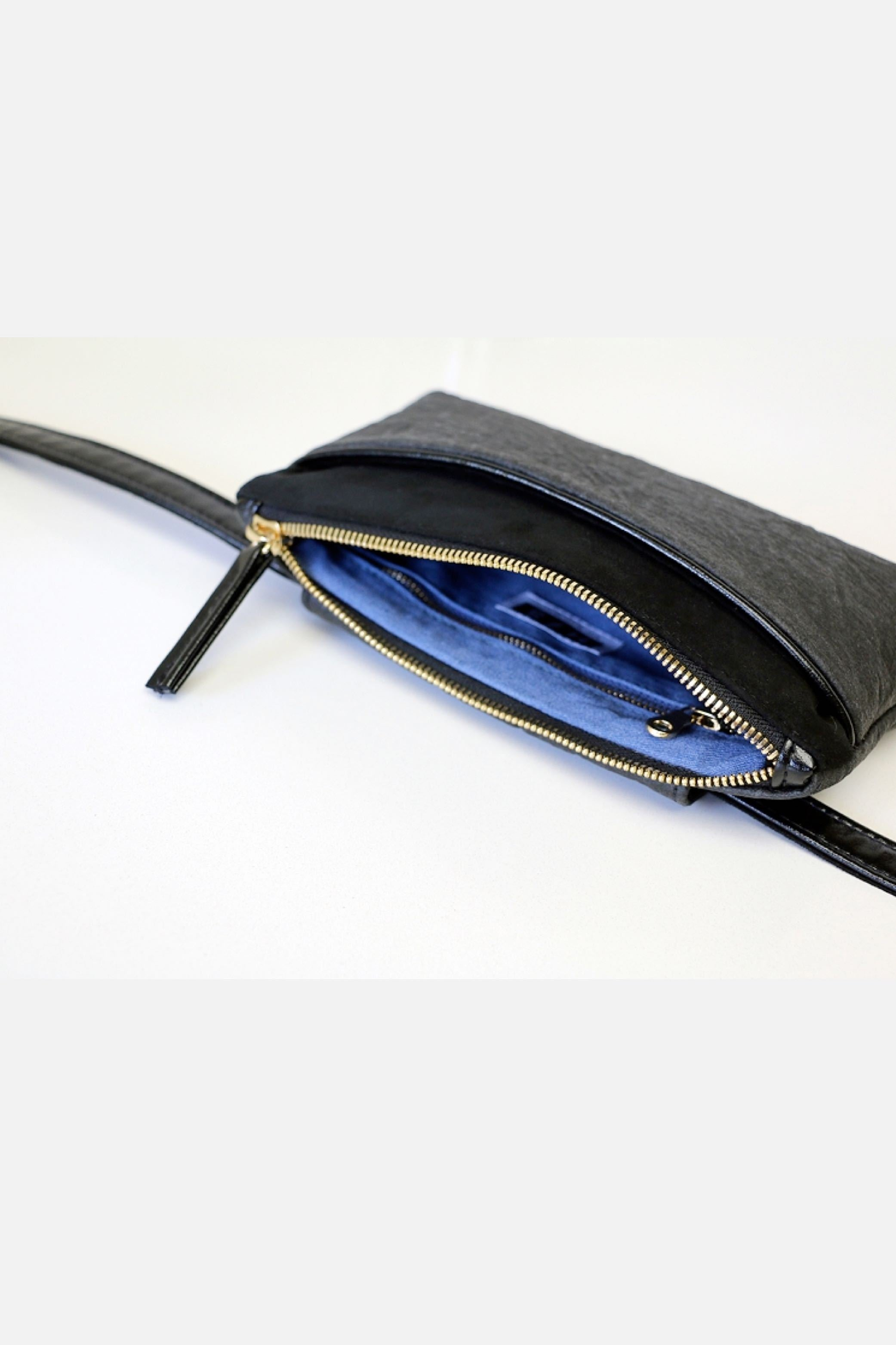 Black Pocket Bum Bag
