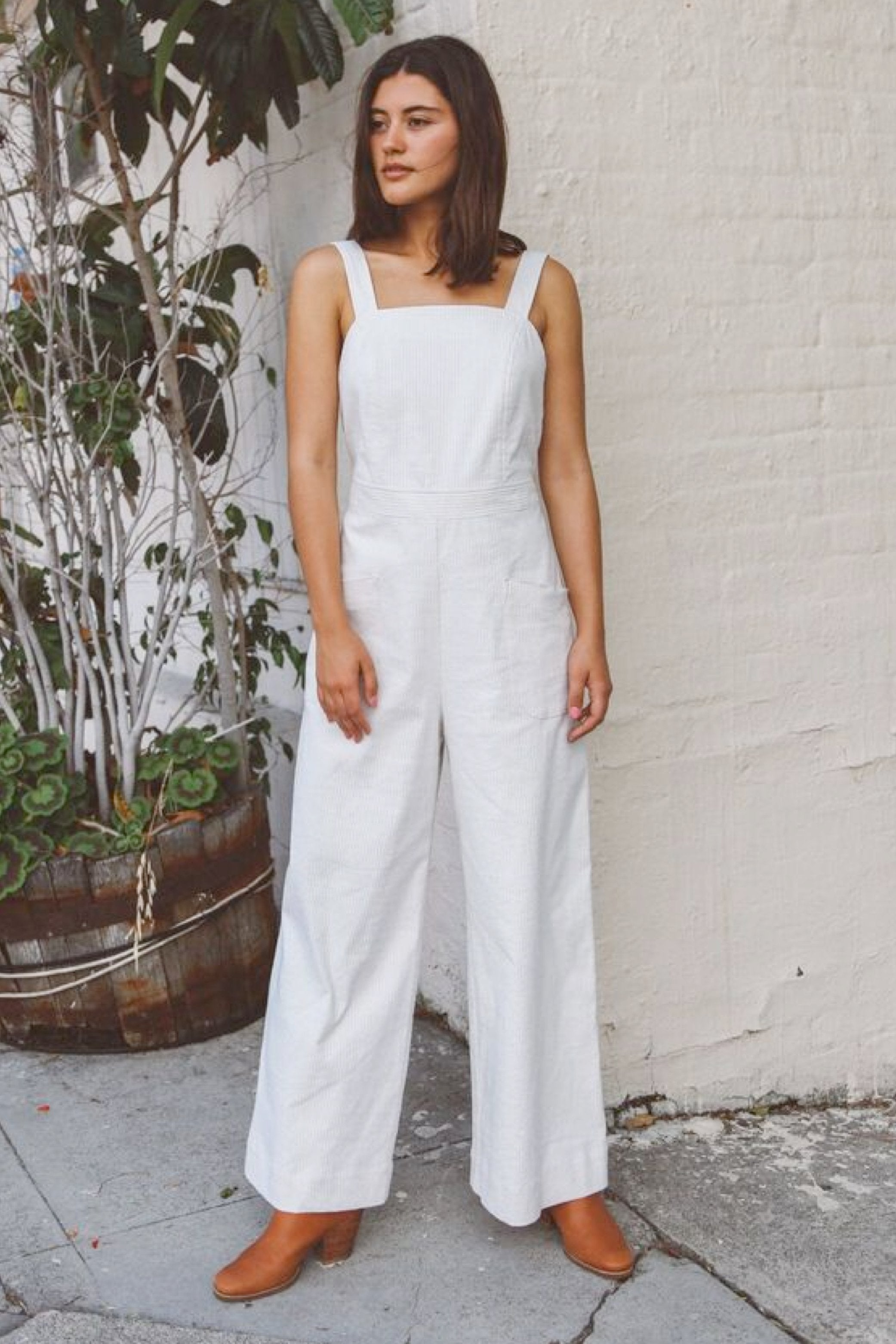 Delia Jumpsuit Cream
