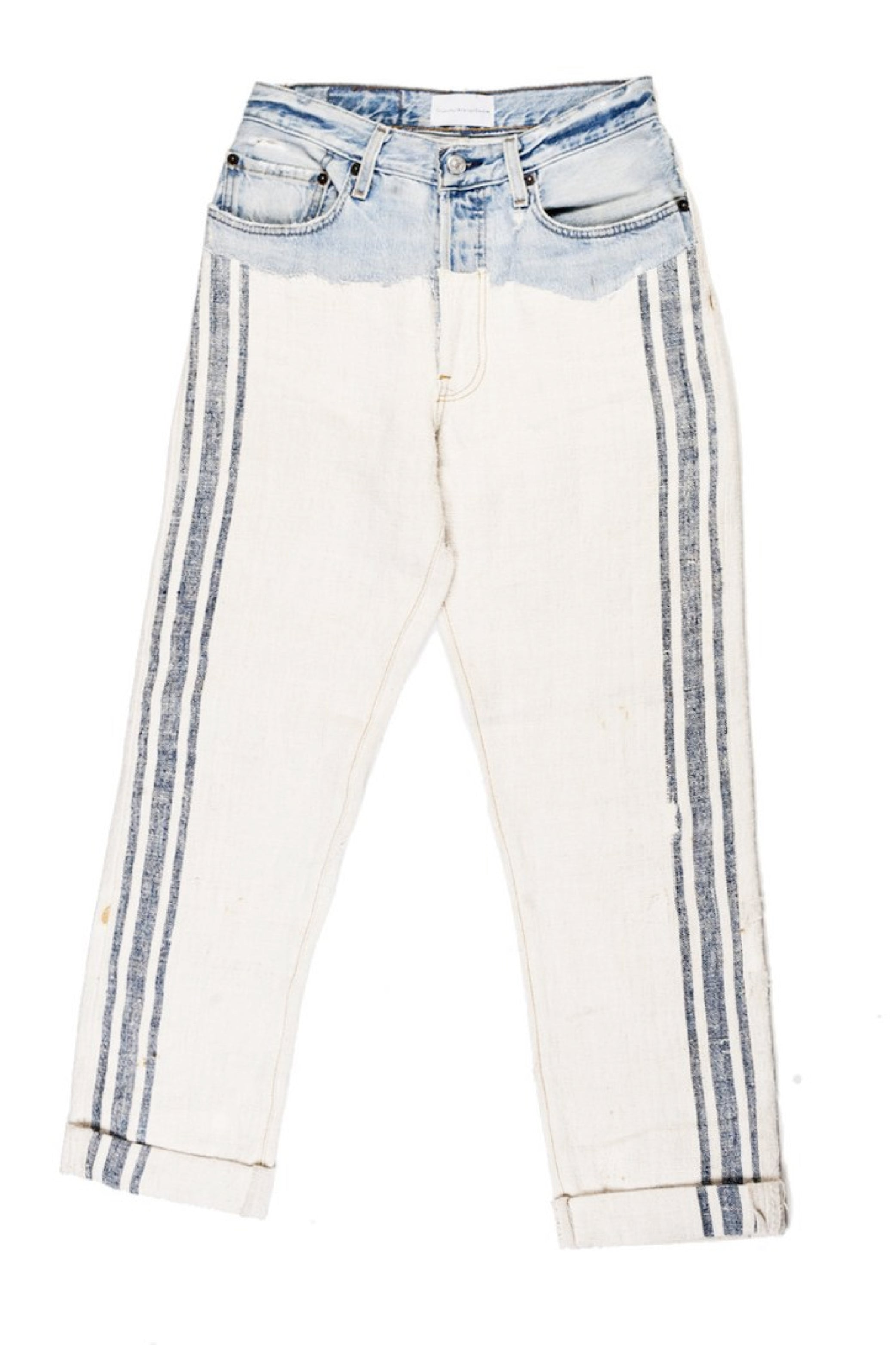 Repurposed Vintage Denim x Linen Jeans