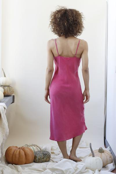 Marjorie Slip Dress Raspberry