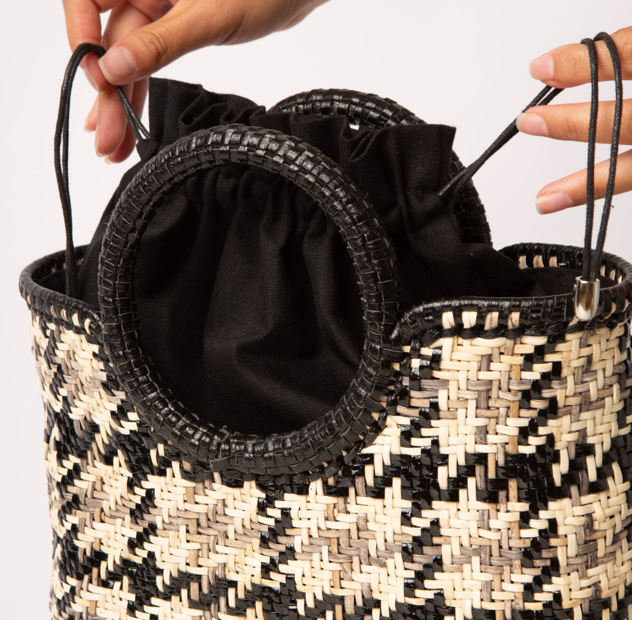 Iris Tote Houndstooth