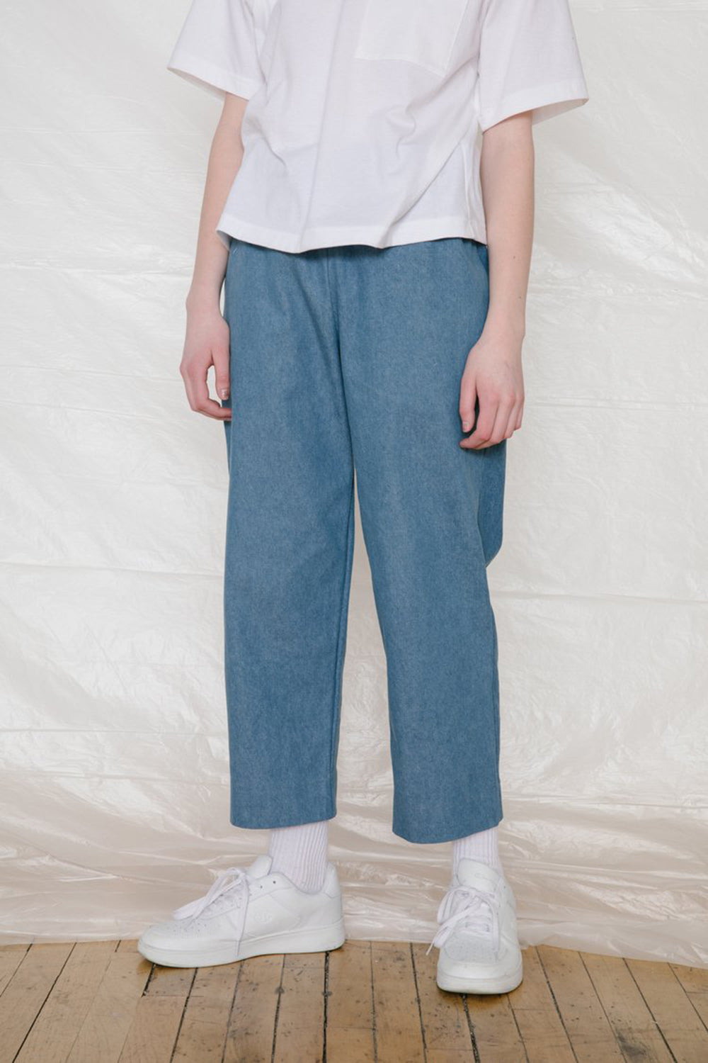 Slack Pants Blue Denim