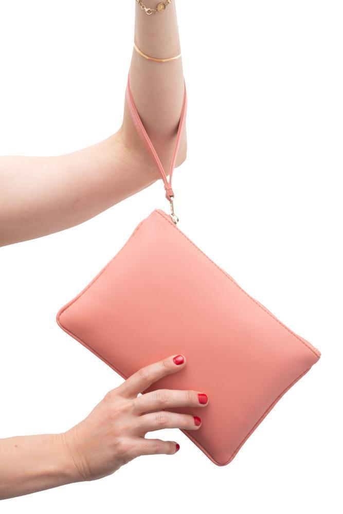 Zipper Clutch Roseate