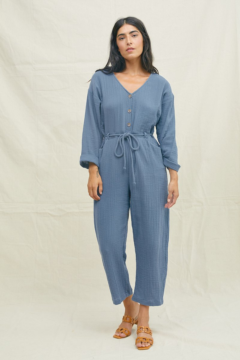 Voyager Reversible Jumpsuit Denim