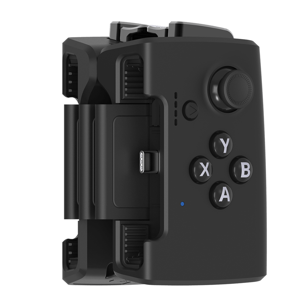 Gamevice device, folded Android version