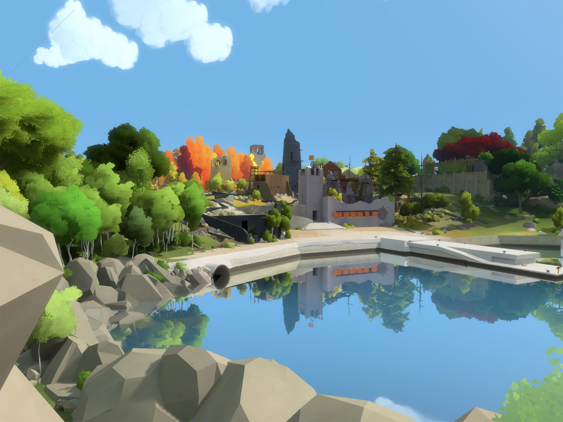 Explore a beautiful island, filled with puzzles