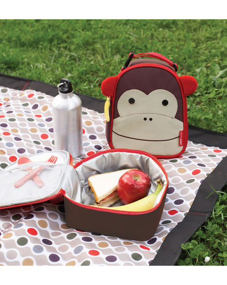 Skip Hop Zoo Lunchie Insulated Kids Lunch Bag- Monkey