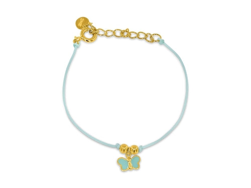BecKids Gold Plated Bubble Green Enamel Bracelet