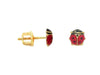 BecKids Gold Plated SIlver Red Lady Bug Stud