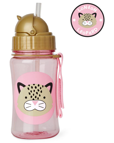 Skip Hop ZOO Straw Bottle- Leopard