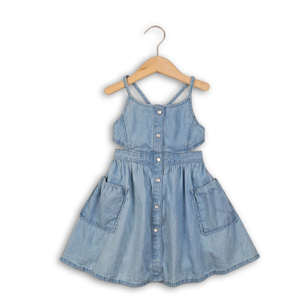 Chambray Strappy Dress
