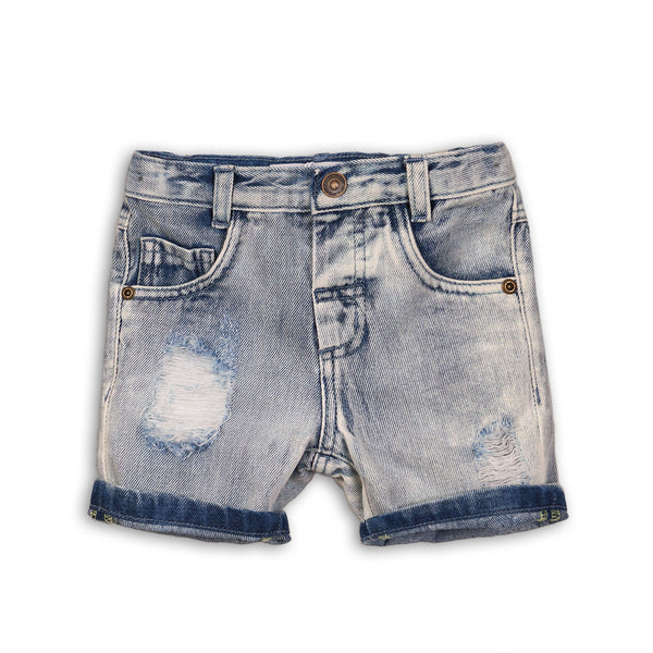 Boys Roll Up Denim Shorts