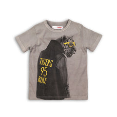 Boys Acid Wash Photo Print Tee
