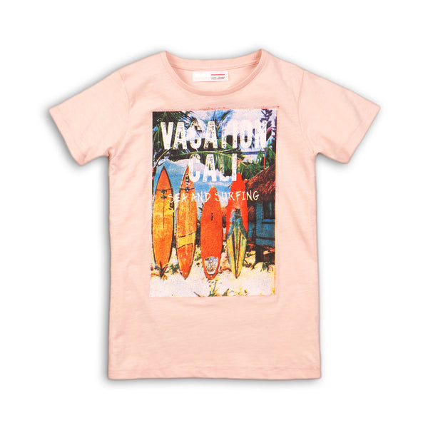 Boys Slub Tee With Photographic Print
