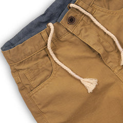Boys Canvas Short With Rope Drawcord