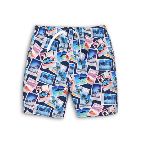 Boys Photographic Swim Trunks