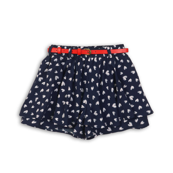 Girls Double Layer Printed Culotte