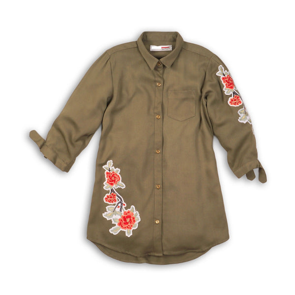 Girls Applique Shirt Dress