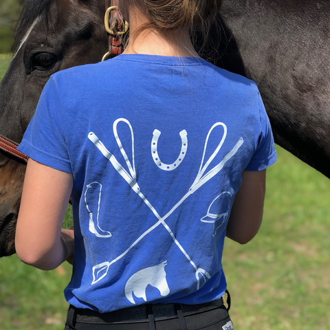 Tack Crossing Washed Royal Blue - American Pony Outfitters