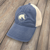 APO Unstructured Trucker Cap NAVY HT-APO-NAVY-100