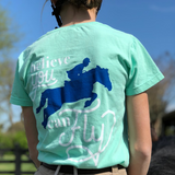 Womens American Pony Outfitters Green Believe You Can Fly