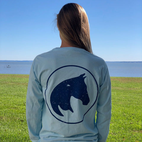 Long Sleeve Cool Blue Pony