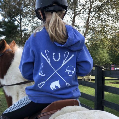 Tack Crossing Hoodie in Pony Purple, Youth