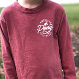 Barn Red Tack Crossing Long Sleeve Youth