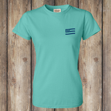FRONT Lucy You Women's Tee, Turquoise, WM-APO-300