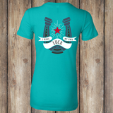 BACK I Make My Own Luck Women's Tee, Turquoise, WM-APO-500